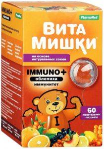 Витамины ВитаМишки Immuno+ для детей