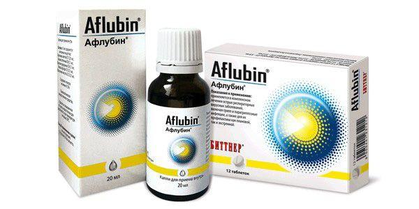 Афлубин в каплях и таблетках